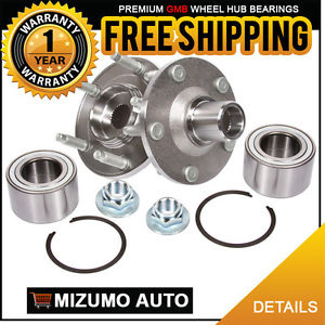 2 New Front Left and Right Wheel Hub Bearing Assembly Pair w/o ABS GMB 799-0176
