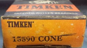 New Vintage Timken 15590, Tapered Roller Bearing Cone