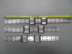 "(Three) Linear Guides with (Six) NSK LE15-1 Bearing Blocks, 2@19"" / 1@24"""