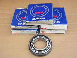6 UNUSED NSK 6210 NR BEARINGS