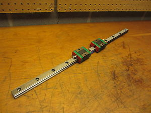 "Hiwin Linear Bearings (2) and Linear Rail 25"" EGH25SAC EGR25C"