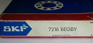 CLEARANCE!!! SKF 7216 BEGBY Radial Bearing BRAND NEW IN BOX