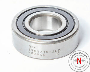 SKF 6202-16-2LS BEARING, FIT C3, DOUBLE SEAL, 16mm x 35mm x 11mm