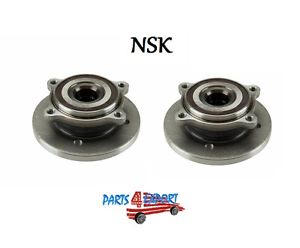 Mini R50 R52 R53 Cooper Set of 2 Front Axle Bearing and Hub Assemblies NSK