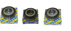 3 STK SNR (OEM) Vauxhall M32 6 speed Gearbox bearings