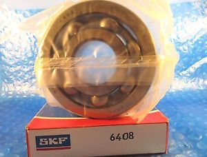 SKF 6408 Deep Groove Ball Bearing,40 mm ID x 110 mm OD x 27 mm Wide