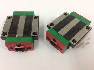x2pcs HIWIN Linear Pre-load Carriage for 20mm Rail HGW20CC CNC Router XYZ Axis