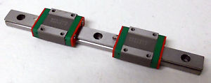 HIWIN MGN15-CH 86866-3 LINEAR BEARING SLIDE RAIL STAGE TWO MOUNTING BLOCKS