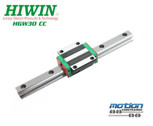 New Hiwin HGW30CCZAC Flange Block Linear Guides HGW30 Series up to 3960mm Long