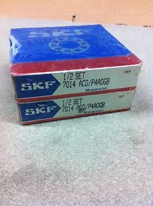 SKF 7014 ACD/P4ADGB PRECISION BEARING SET (MATCHED PAIR) NEW SEALED IN BOX