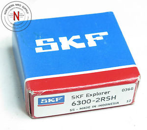 SKF 6300-2RSH DEEP GROOVE BALL BEARING, DOUBLE SEAL, 10mm x 35mm x 11mm