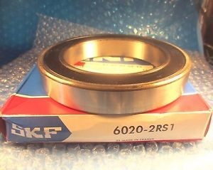 SKF 6020 2RS1, Deep Groove Roller Bearing, 60202rs1, 6020 2rs 1
