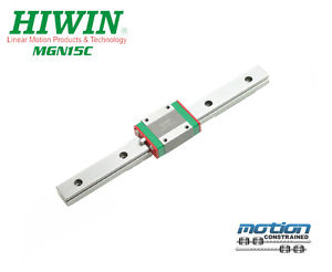 New Hiwin MGN15C Linear Guides MGN Linear Bearings / 60mm to 1980mm Long