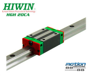 New Hiwin HGH20CAZAC Square Block Linear Guides HGH20 Series up to 2980mm Long