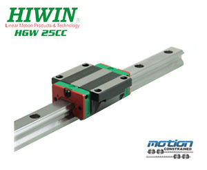 New Hiwin HGW25CCZAC Flange Block Linear Guides HGW25 Series up to 2980mm Long