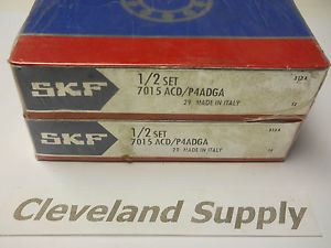 SKF 7015 ACD/P4ADGA PRECISION BEARING SET (MATCHED PAIR) NEW SEALED IN BOX
