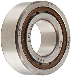 SKF NJ 2205 ECP Cylindrical Roller Bearing, Single Row, Removable Inner Ring,