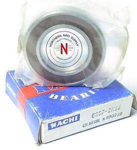 NACHI BALL BEARING 6007-2NSE {SKF 6007-2RS} 35mm x 62mm x 14mm, Made in Japan