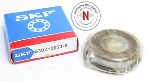 SKF 6304-2RS1NR DEEP GROOVE BALL BEARING, 20mm x 52mm x 15mm, FIT C0