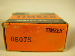 """Timken 05075 Tapered Roller Bearing, Single Cone 0.7500"""" ID, 0.5660"""" Width"""