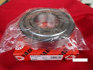 Fag 6312-2ZR, Single Row Radial Bearing (=2 SKF 2Z, NSK ZZ,NTN,Fafnir 312 KDD)