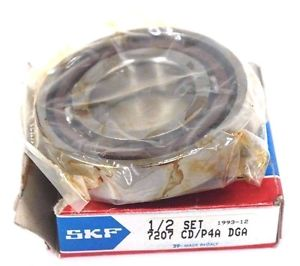 NEW SKF 1/2 SET 7207 CD/P4A DGA BALL BEARING 7207CD/P4ADGA
