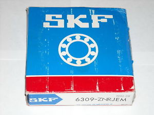 SKF 6309 ZNRJEM Deep Groove Bearing W/ Snap Ring * NEW