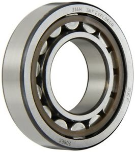 SKF NJ 208 ECP/C3 Cylindrical Roller Bearing, Single Row, Removable Inner Ring,