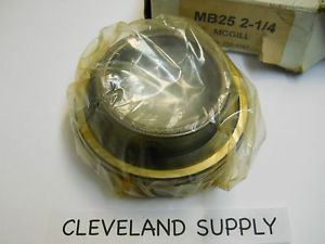 """MCGILL MB25 2-1/4 BEARING INSERT 2-1/4"""" BORE NEW CONDITION IN BOX"""