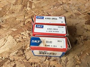 3-SKF ,Bearings#6302-2RS1 30day warranty, free shipping lower 48!