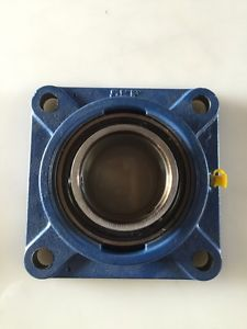 SKF FY 35 TF Ball Bearing Flange Unit, 4 Bolts, Setscrew Locking, Regreasable,