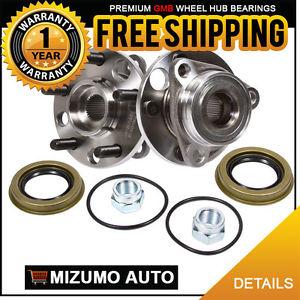 2 New Front Left and Right Wheel Hub Bearing Assembly Pair w/o ABS GMB 730-0215
