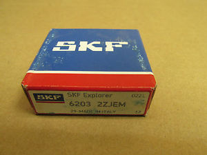 NIB SKF 6203 2Z BEARING METAL SHIELD BOTH SIDES 62032ZJEM C3 6203ZZ 17x40x12 mm