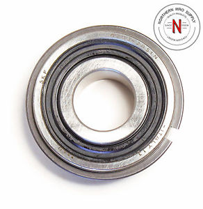 SKF 6203-2RS1N FLANGE BEARING WITH RING, 17mm x 40mm x 12mm, FIT C0 DBL SEAL