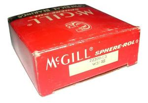NEW MCGILL SPHERICAL BEARING 45MM X 100MM X 36MM 22309-C3 W33 SS (2 AVAILABLE)