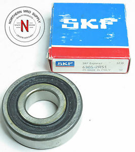 SKF 6305-2RS1 DEEP GROOVE BALL BEARING, DOUBLE SEAL, 25mm x 62mm x 17mm