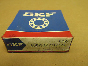 NIB SKF 60072Z BEARING METAL SHIELD BOTH SIDES 60072ZLHT23 6007 2Z 35x62x14 mm