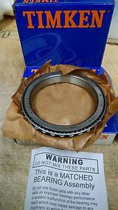 (1 Matched Cup and Cone Set) LL217849 90010 Timken Roller Bearing Assembly