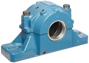 """SKF SAF 509 Spherical Roller Bearing Housing, 2 Bolts, Cast Iron, Inch, 8-1/4"""""""
