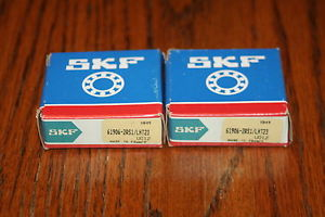 New (Lot of 2) SKF 61906-2RS1/LHT23 Deep Groove Radial Bearings