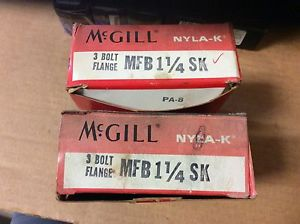 2-McGILL, Bearings# MFB 1/1/4SK,Free shipping to lower 48, 30 day warranty