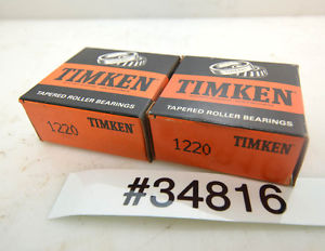 Lot of 2 Timken 1220 Tapered Bearing Cups (Inv.34816)