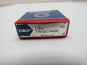 SKF 71904 ACD P4ADGB Super Precision Bearing 1/2 Set
