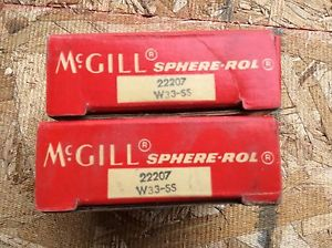 2-McGILL Bearings, Cat# 22207 W33-SS ,comes w/30day warranty, free shipping