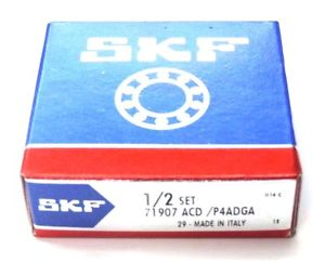 NIB SKF 71907 ACD /P4ADGA SUPER PRECISION BEARINGS 1/2 SET, 71907ACDP4ADGA