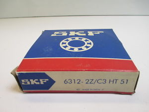 SKF 6312-2Z/C3 HT51 DEEP GROOVE BALL BEARING MANUFACTURING CONSTRUCTION NEW