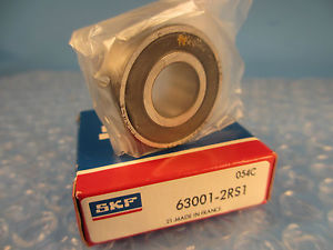 SKF 63001 2RS1, 2RS, Single Row Radial Bearing