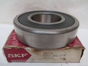 NEW SKF BALL BEARING 6312 2RSJ/EM 6312-2RS1/C3