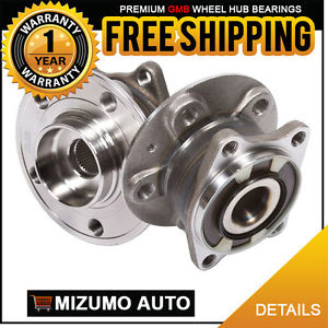 2 New Rear Left and Right Wheel Hub Bearing Assembly Pair w/ ABS GMB 715-0342