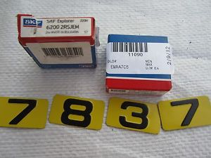 2 -SKF EXPLORER BEARINGS 6200 2RSJEM – NOS